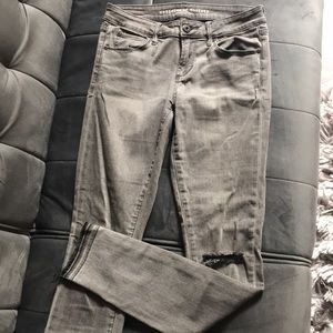 Comfortable Gray Skinny Jeans